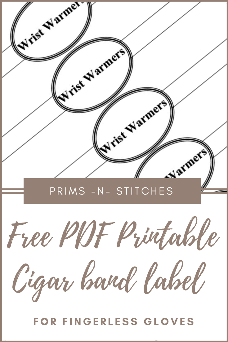 image regarding Free Printable Cigar Bands referred to as Cigar Band Design and style Label for Fingerless Gloves Prims -N